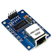 ENC28J60 Webserver Module Ethernet Shield Board for Arduino Nano v3.0 Top blue & golden & silver
