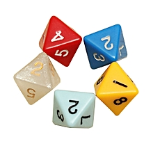5PCS/set Number Eight-sided Dice Board Game Dice Counter -