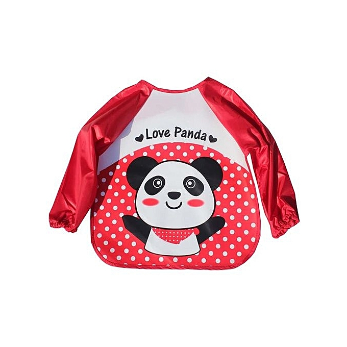 9072cb00c9968 2pcs/lot Baby Girl Long Sleeve Feed Bib Children Plaid Cotton Waterproof  Anti Dirty Clothing Overclothes Baby Supplies Overclothes - Red