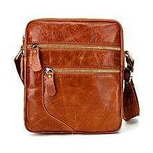 Business Men Crossbody Messenger Bag Shoulder Leather Fashion Casual Business Satchel