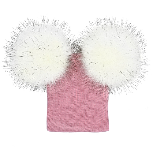 4c121373f32 Generic jiuhap store Infant Baby Girls Boys Crochet Knit Winter Warm Faux  Fur Ball Hat Beanie Cap-Pink   Best Price