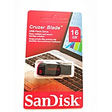 Cruzer Blade USB Flash Drive - USB 2.0 - 16GB - Black & Red