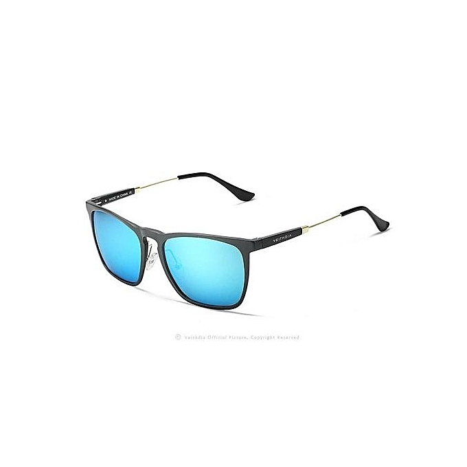 aa1b2cbebba VEITHDIA Mens Square Retro Aluminum Sunglasses Polarized Blue Lens Vintage  Eyewear Accessories Sun Glasses For Men