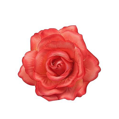 Fashion Bride Rose Flower Heads Artificial Silk Flowers Hair Clip