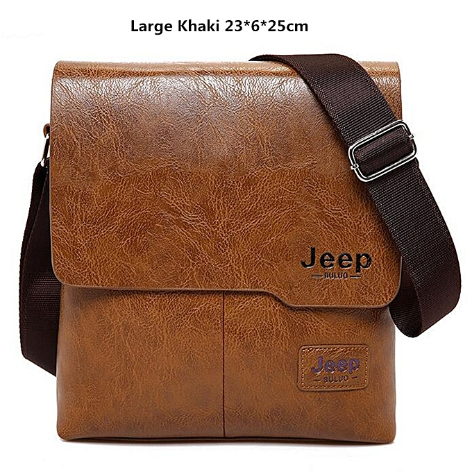 a0f53f3fe Men Tote Bags Set JEEP BULUO Famous Fashion Man Leather Messenger Bag Male  Cross Body Shoulder