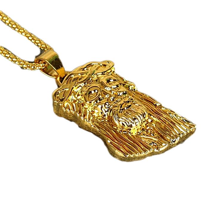Buy fashion fashion men jewelry 18k gold plated jesus head pendant fashion men jewelry 18k gold plated jesus head pendant necklace chain hip hop necklace aloadofball Gallery