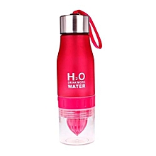 Fashion Fruit Infusing Water Bottle Sports Health Lemon Juice Drink Cup -Red