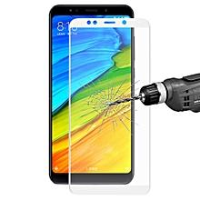 ENKAY Hat-Prince For  Xiaomi Redmi 5 Plus 0.2mm 9H Surface Hardness 3D Full Screen Carbon Fiber Soft Edges Tempered Gl Screen Film(White)
