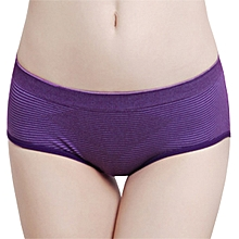 Comfort Striped Pattern Seamless Lycra Cotton Breathable Hips Up Low Rise Panties Briefs