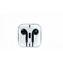 Wired Earphone for iPhone & Andriod devices - Black