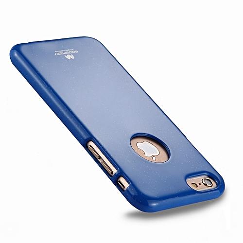 best cheap c3ec1 7d5ca MERCURY GOOSPERY JELLY CASE for iPhone 6 & 6s TPU Glitter Powder Drop-proof  Protective Back Cover Case (Dark Blue)