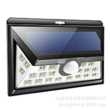 24 LED Solar Light LED Motion Sensor - Black
