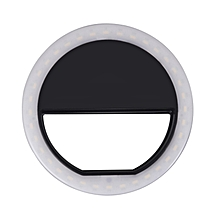 Selfie Ring Light 3-Level Brightness LED Clip On for All Smart Phones/Tablets (Black) XYXY-MALL