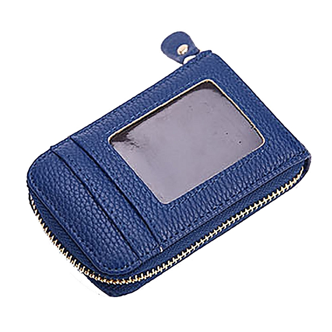 d8652ba64255 jiuhap store Men Women Leather Credit Card Holder Case Card Holder Wallet  Business Card BU-Blue