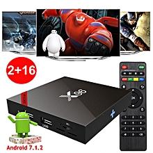 X96 2GB+16GB Android 7.1.2 Quad Core S905W 4K H.265 TV BOX Media player WIFI 3D