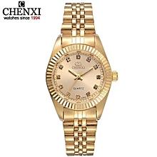 brand top luxury ladies gold watch women golden clock female women dress rhinestone quartz waterproof watches feminine