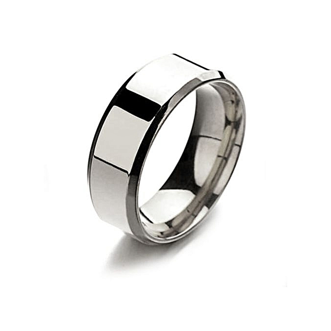 Buy Fashion Titanium Ring Men Wedding Ring Simple Silver Black Gold