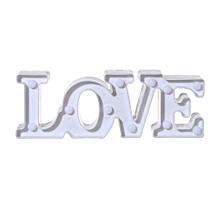 Love Alphabet Lights LED Light Up White Plastic Letters Standing Hanging