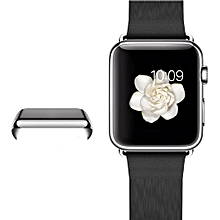 Ultra-Slim Electroplate PC Hard Case Cover For Apple Watch Series 2 42mm SL-Silver