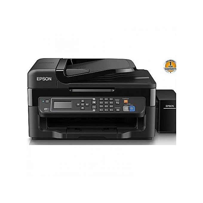L565 WiFi,Fax,Ethernet,Scan,Copy+Ink Bottles+USB Print Cable