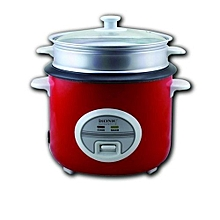 ISONIC RICE COOKER WITH STEAMER (RED)
