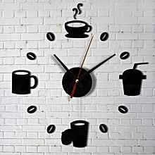 Fashion Acrylic DIY Self Adhesive Interior Wall Creative Decoration Clock-AS Shown