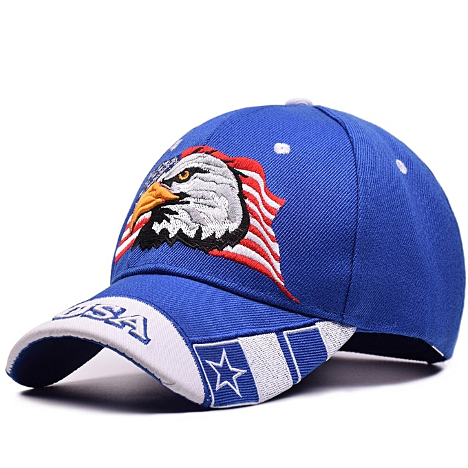2018 USA Flag Eagle Embroidery Baseball Cap Cotton Men Hip Hop Snapback Cap  Casquette Hat Women Outdoor Casual Army Dad Hat Bone