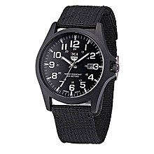 Mens Date Stainless Steel Military Sports Analog Quartz Army Wrist Watch BK