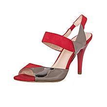 Red Pweter Slip On Heels