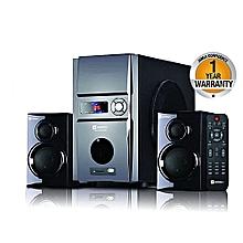 Multimedia Speaker SHT 1092 AC/DC- 2.1 Ch Subwoofer 6000W PMPO -USB/FM-Black