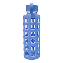 Glass Water Bottle - 350ml - Blue