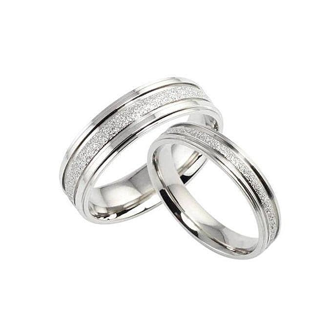 Steel Couple Wedding Rings