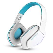 KOTION EACH B3506 Wired Wireless Bluetooth 4.1 Professional Gaming Headphones BLUE AND WHITE