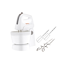 Hand Mixer with Bowl - White