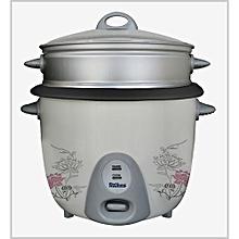 Rice Cooker with Non Stick Aluminium Steamer - 2.8 Liter