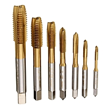 7pc Hss Spiral Point Tap M3-M12 Straight Flute Thread Machine Screw Tap 3mm-12mm