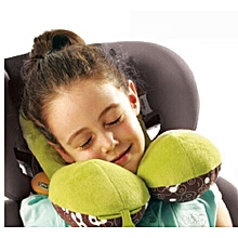 Giraffe Print Car seat pillows for ages 1-4 years - Multicolored