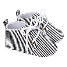 Baby Infant Kids Girl Boys Soft Sole Crib Toddler Newborn Shoes-Black