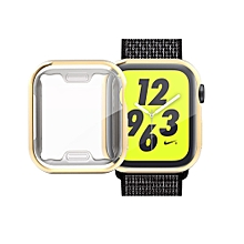 Full Coverage Plating TPU Case for Apple Watch Series 4 40mm (Gold)