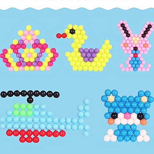 Water stick sticky beads of water pearl color DP perler beads mist toy  magic beads jigsaw puzzle DIY