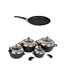 4  Nonstick Cooking Pots & Non -Stick Frying Pan .