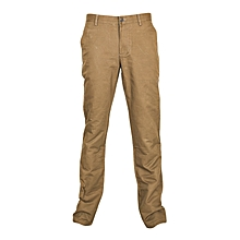 Beige Slim Fit Khaki Pants
