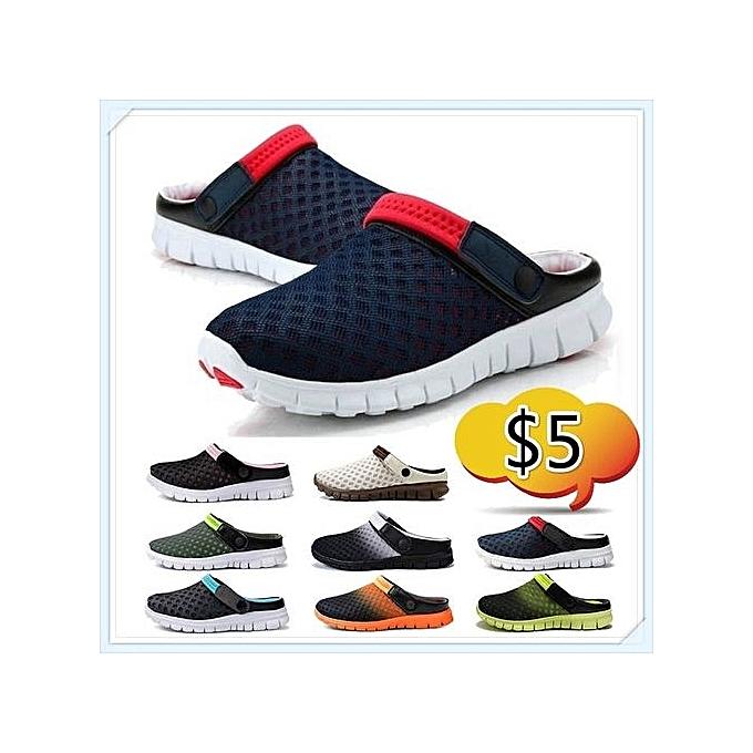 Generic Colourblack White Summer Sandals Shoes Men Ventilative