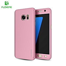 FLOVEME 2 in1 Hard PC 360° Full Body Protective Case for Samsung Galaxy S7 Edge