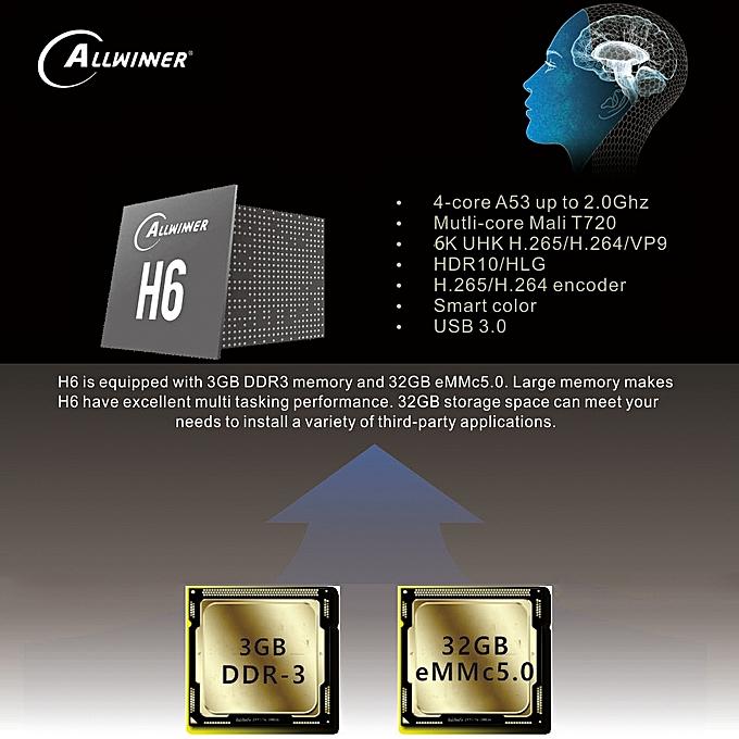 EACHLINK H6 Mini TV Box Allwinner 4K Smart Media Player