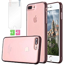 IPhone 7 Plus Case,iPhone 7 Plus Phone Case,iPhone 7 Plus Clear Case,iPhone 7 Plus Anti Gravity Phone Case, Nano Hands-Free Selfie Clear Protective Stick To Mirror, Glass, Tile, Smooth Surface For IPhone 7 Plus With Protective Film Clear