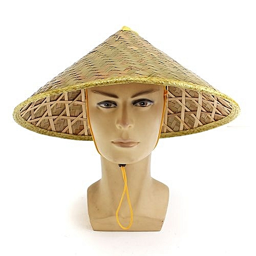 2800ab299 UNIVERSAL Asian Vietnamese Japanese Coolie Straw Bamboo Sun Hat Farmer Costume  Accessory-