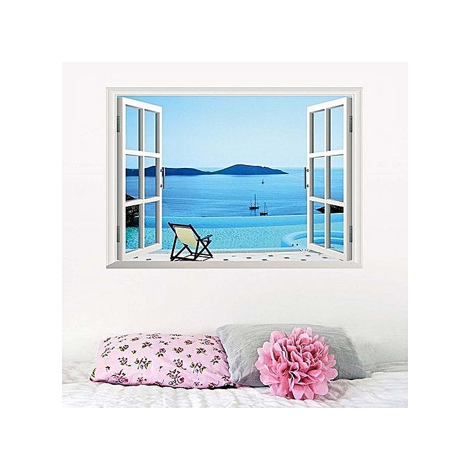 Buy Generic Special Design VC-X006 3D Sea Landscape Pattern Wall ...
