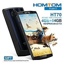 "Homtom HT70 6.0"" (4GB + 64GB ROM) Android 7.0 10000mAh_Black"