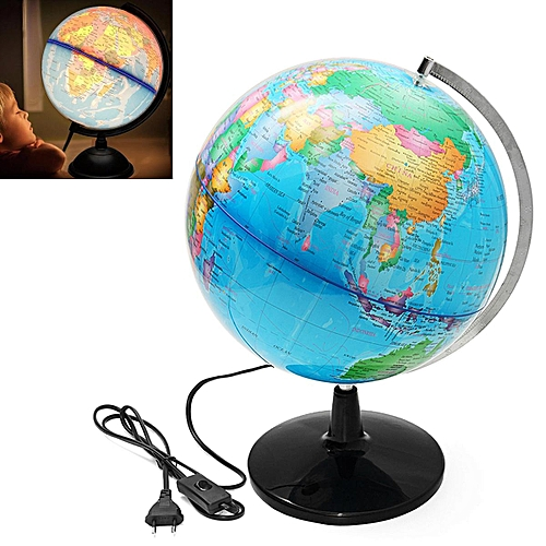Map Of The World Globe View.32cm Electric Led World Globe Atlas Map Rotate Stand Educational Kid Gift
